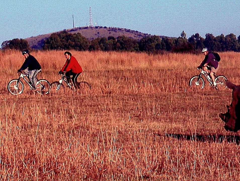 Riding with the Rhinos on a South African Game Preserve