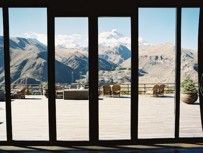 Incredible Bedroom Views in Kazbegi