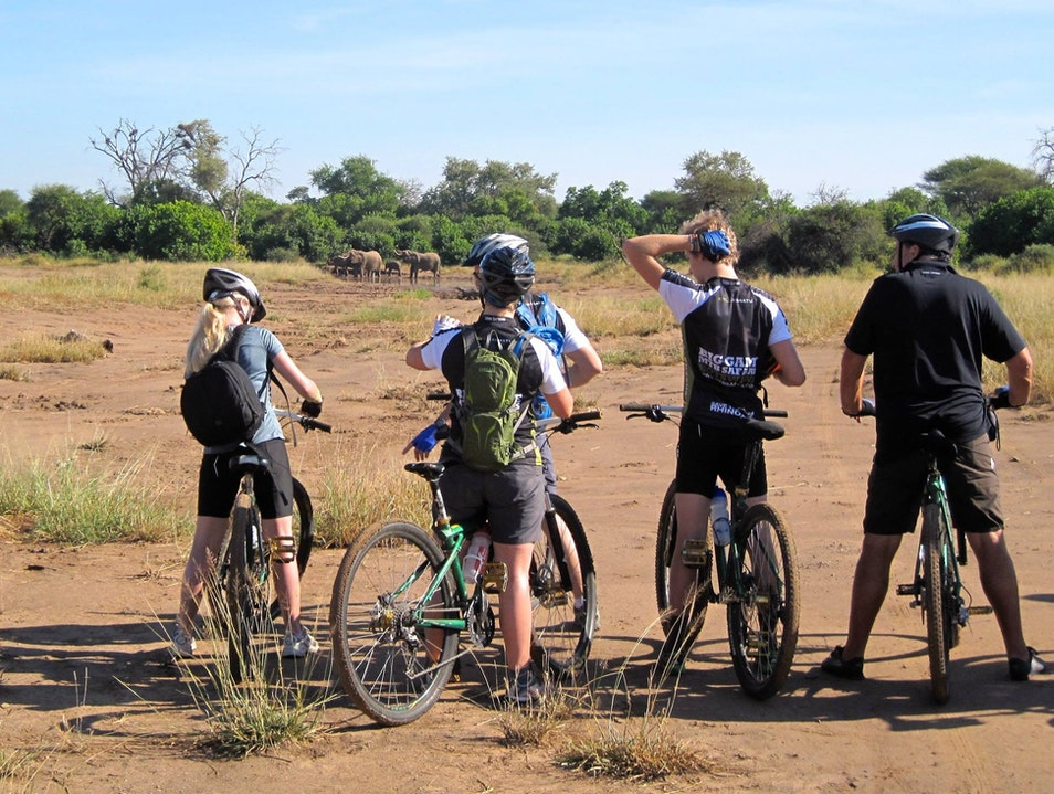 Bicycling in the Bush Gwanda  Zimbabwe