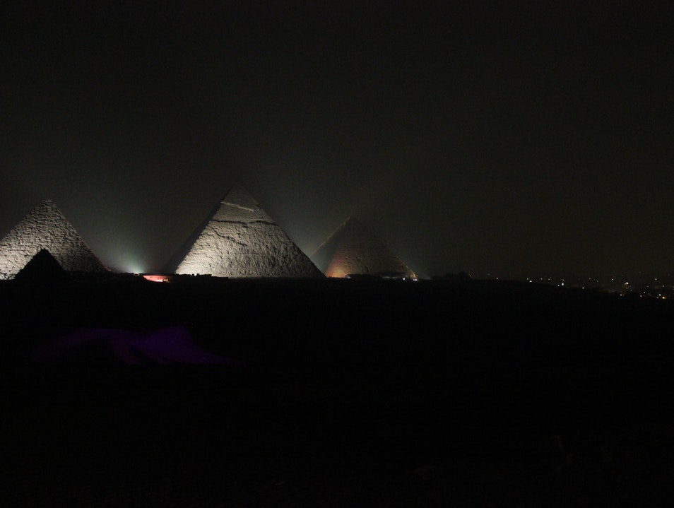 Night in Giza Cairo  Egypt