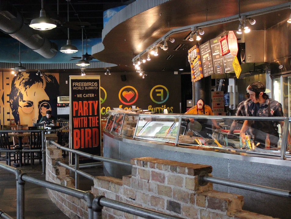 Eat a Funky Burrito at Freebirds Houston Texas United States