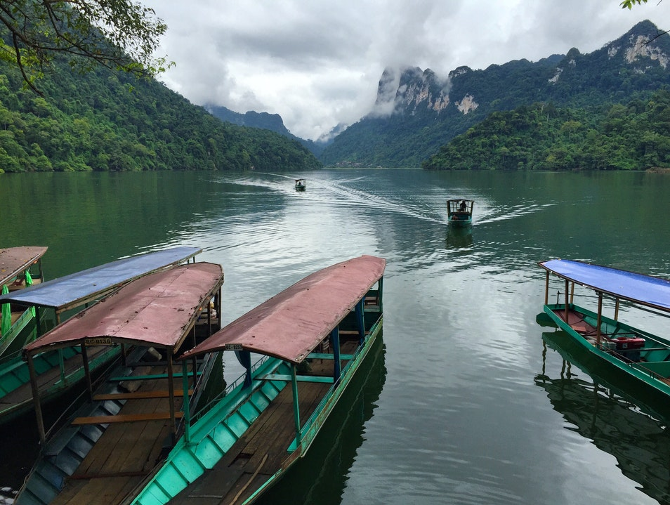 Boat Ride in Ba Be National Park, Vietnam