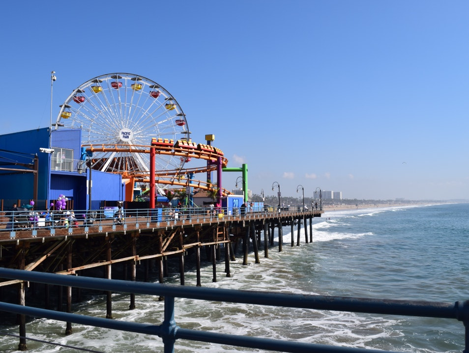 Amusements & Attractions at the Santa Monica Pier Los Angeles California United States