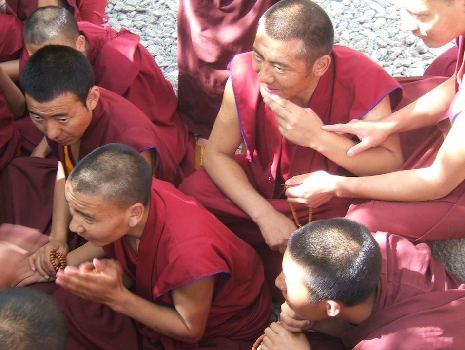 Theme: Adrenaline With Monks Lhasa  China