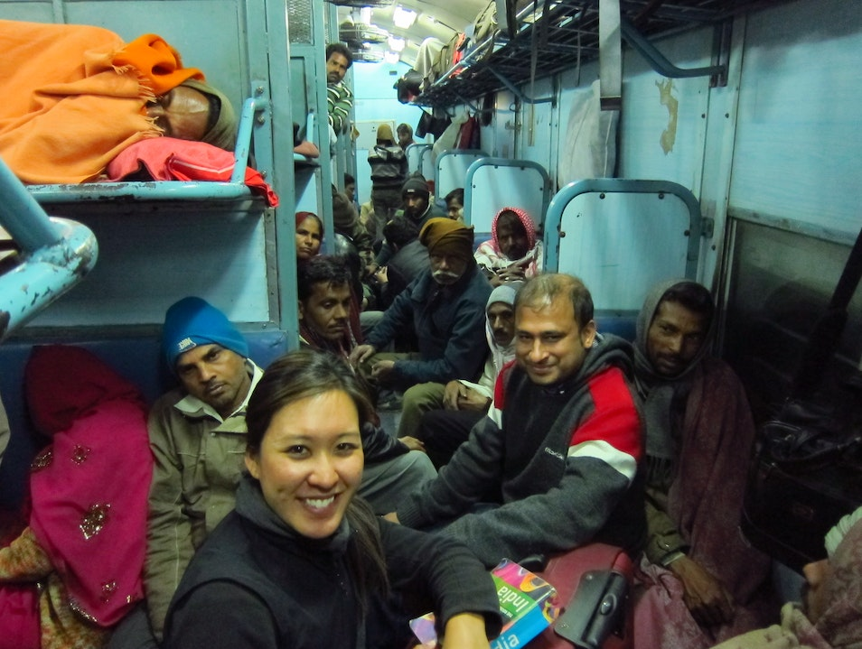 Take a train with locals Jaipur  India