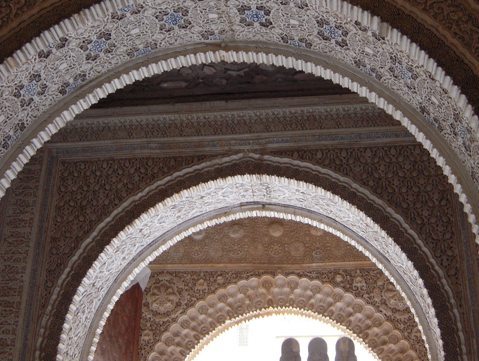 At the Alhambra, Always Look Up! Granada  Spain