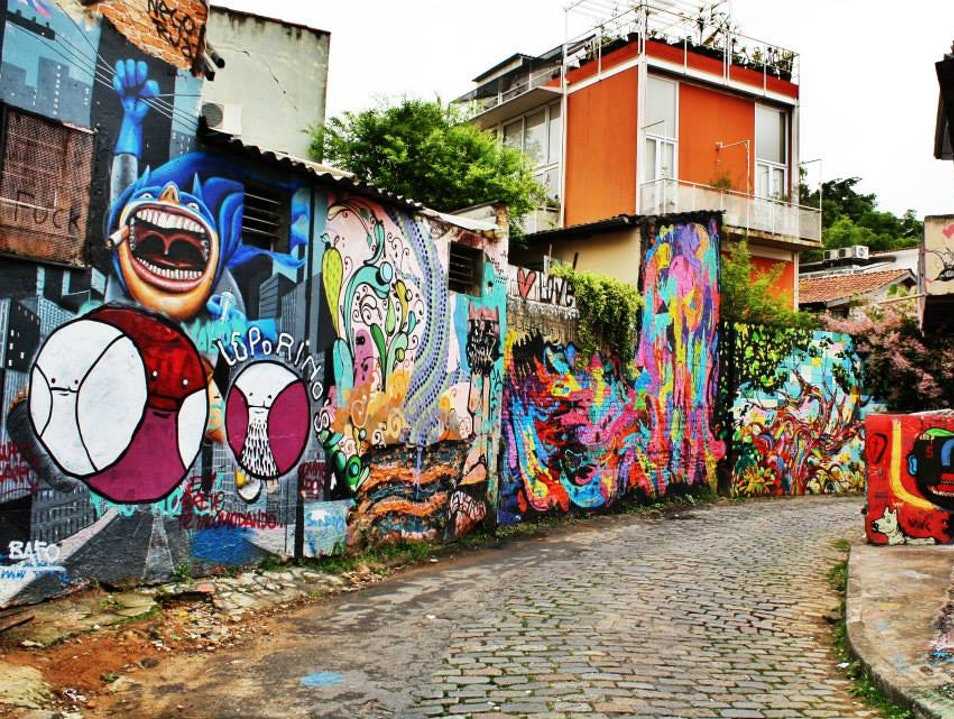 Oasis of Color in a Dirty City Sao Paulo  Brazil