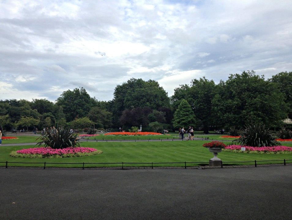 Taking a Breather at St Stephen's Green Dublin  Ireland