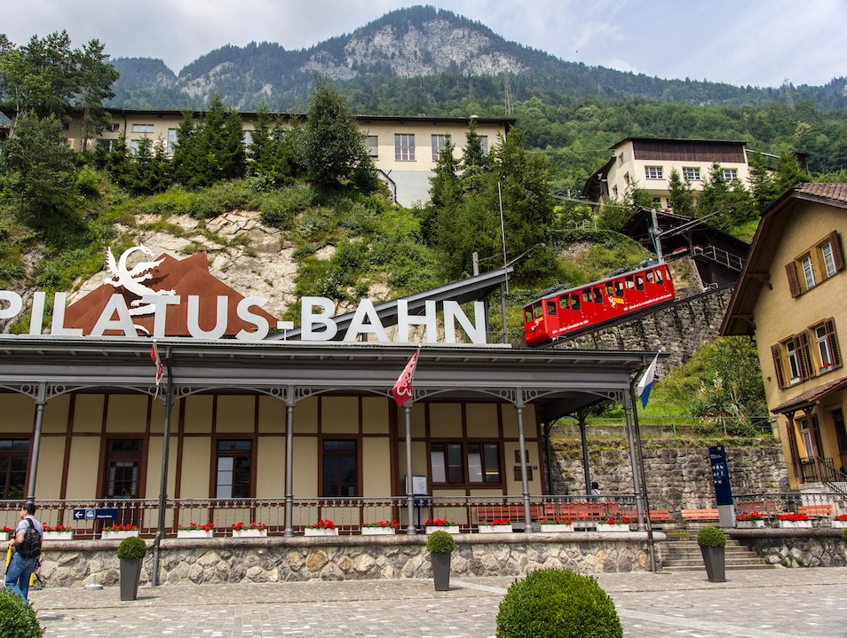 Pilatus- a day's tour with steepest cogwheel train and a shipride