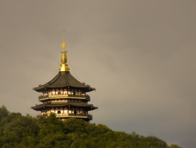 Leifeng Pagoda beautiful & great building to visit on Xihu Lake
