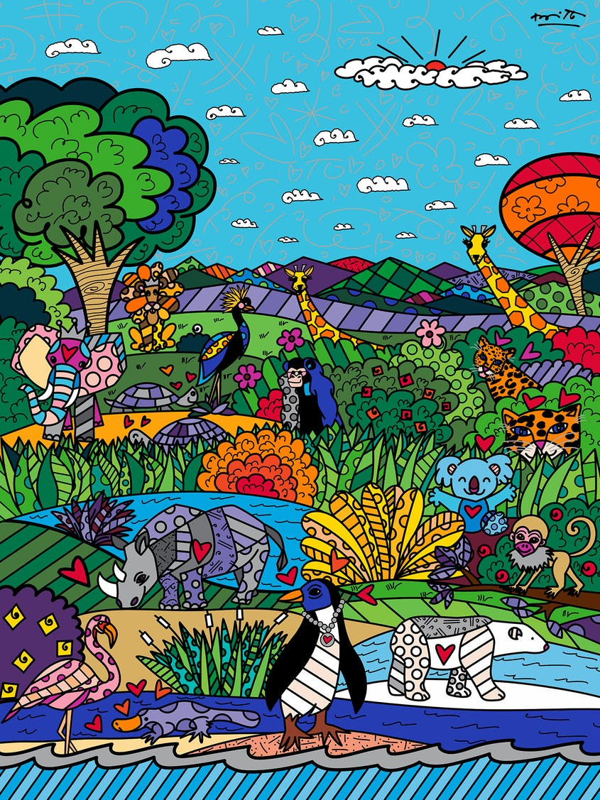 The mural will be displayed at the San Diego Zoo.