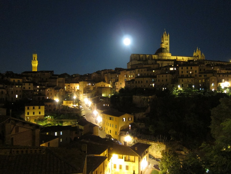 A Night View of Siena