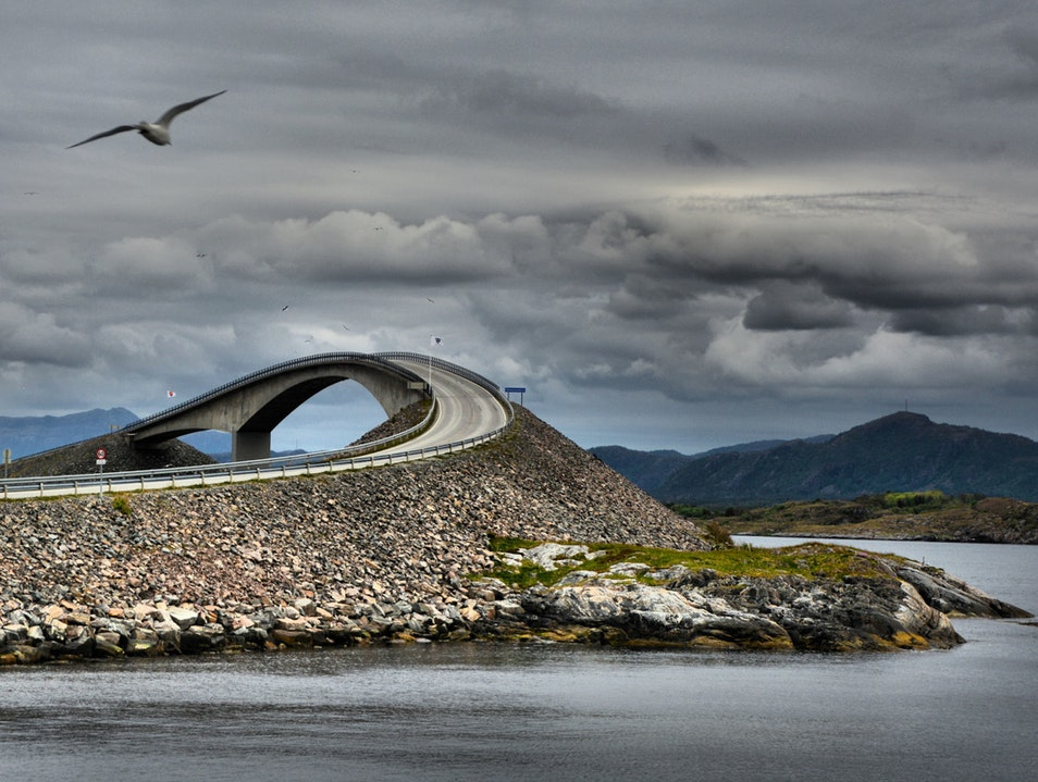 Atlantic Ocean Road Molde  Norway