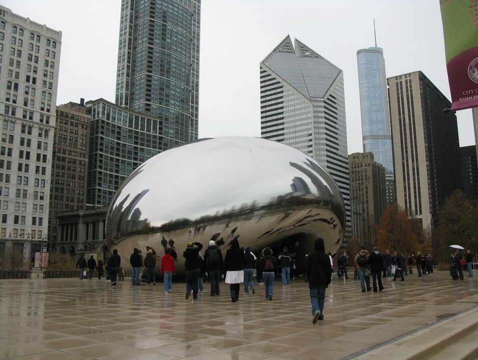 Bean Sculpture in Chicago's Millennium Park Chicago Illinois United States