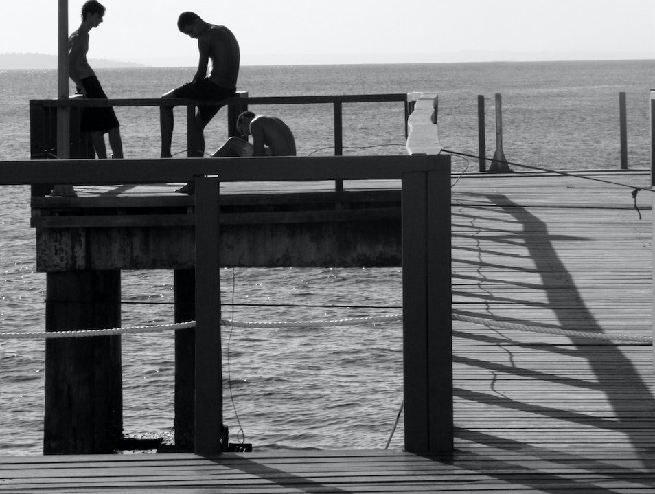 Reflections on the Pier - Lost in the Moment