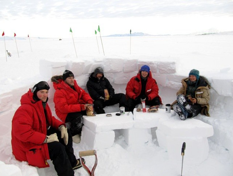 Warm Cold Tea Party McMurdo Station  Antarctica