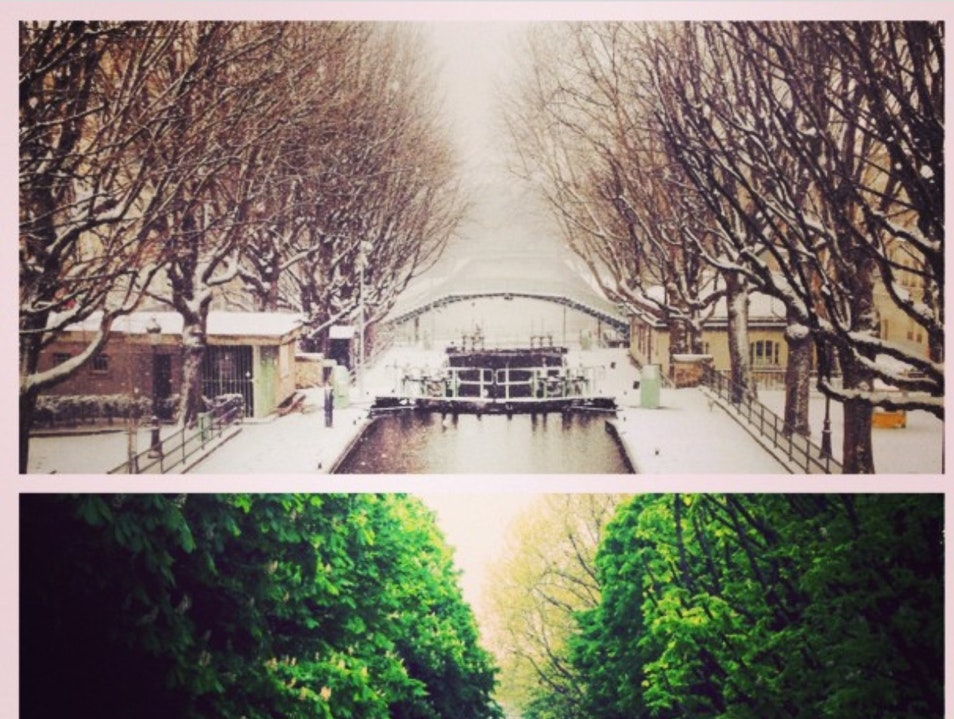 Canal Saint Martin Paris  France