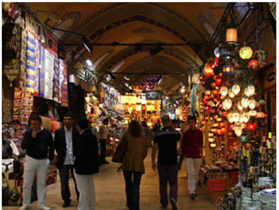 Shopping at the Grand Bazaar Istanbul  Turkey