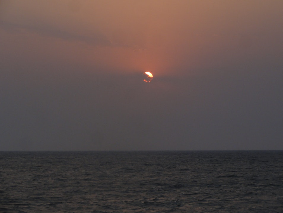 Sunset over Arabian Sea Mumbai  India