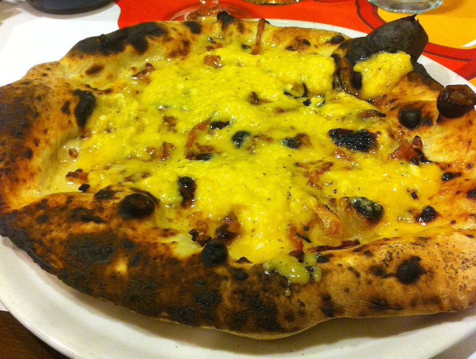 Gourmet pizza and great beer & wine