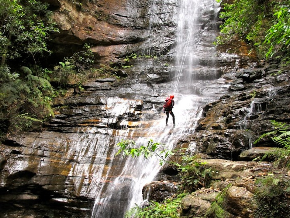 Canyoning and Rappelling in the Blue Mountains Sydney  Australia