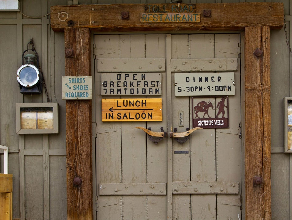 Lunch in Saloon Furnace Creek California United States