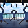 Aerial Yoga at Six Senses Laamu Laamu Atoll  Maldives