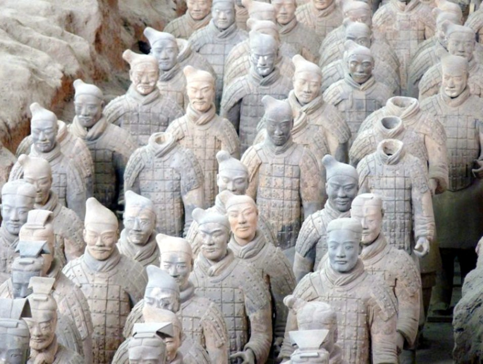 Visiting the Terra-cotta Warriors Xi'an  China