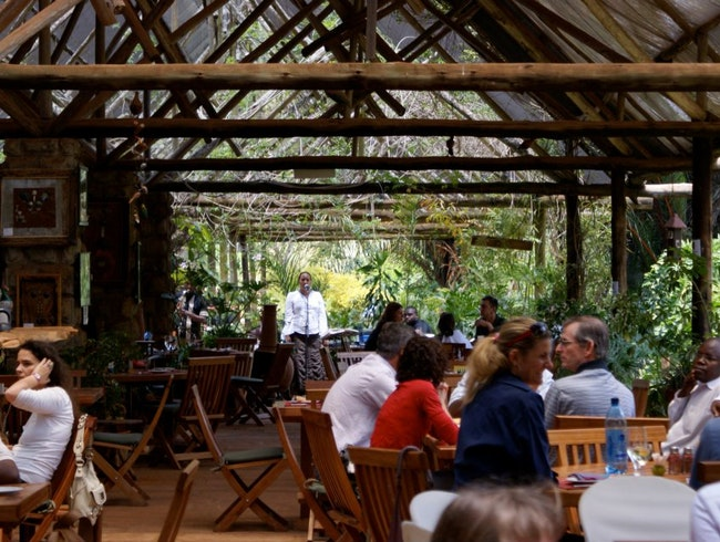 Lunch in the middle of Nairobi's biggest forest