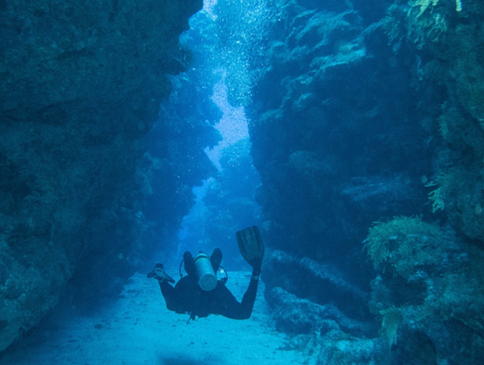 Diving at Devil's Grotto George Town  Cayman Islands
