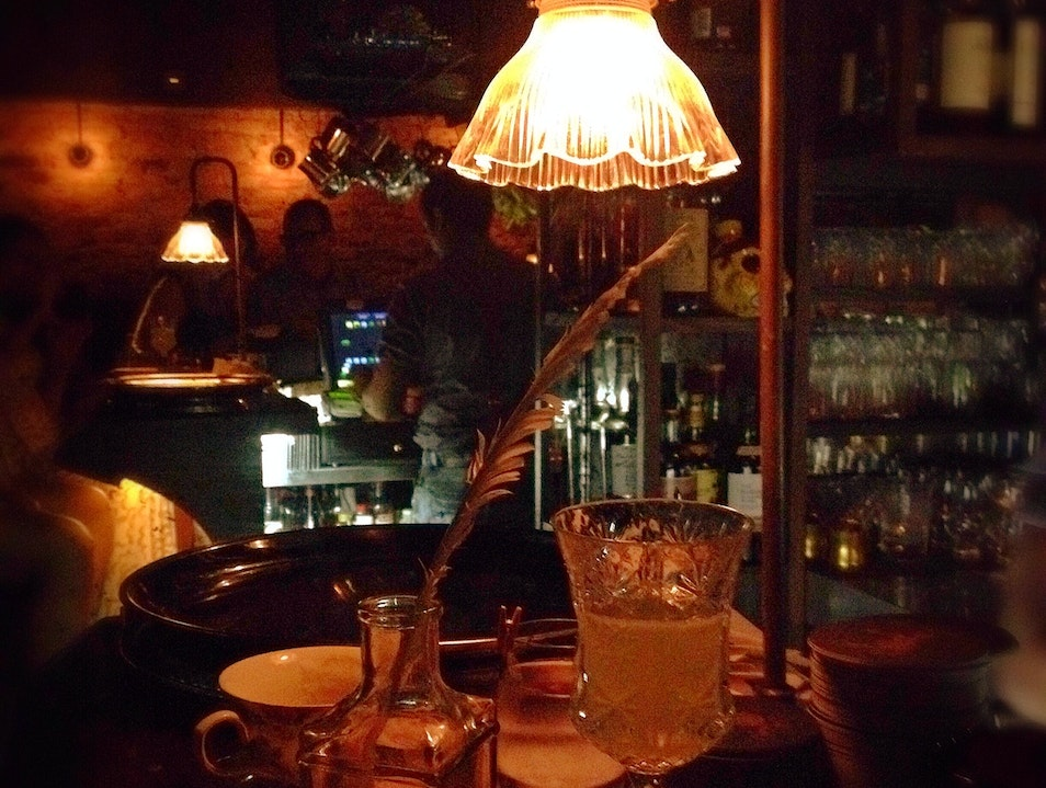 Fancy Tipples: Flaming, Festooned Refreshment at The Library