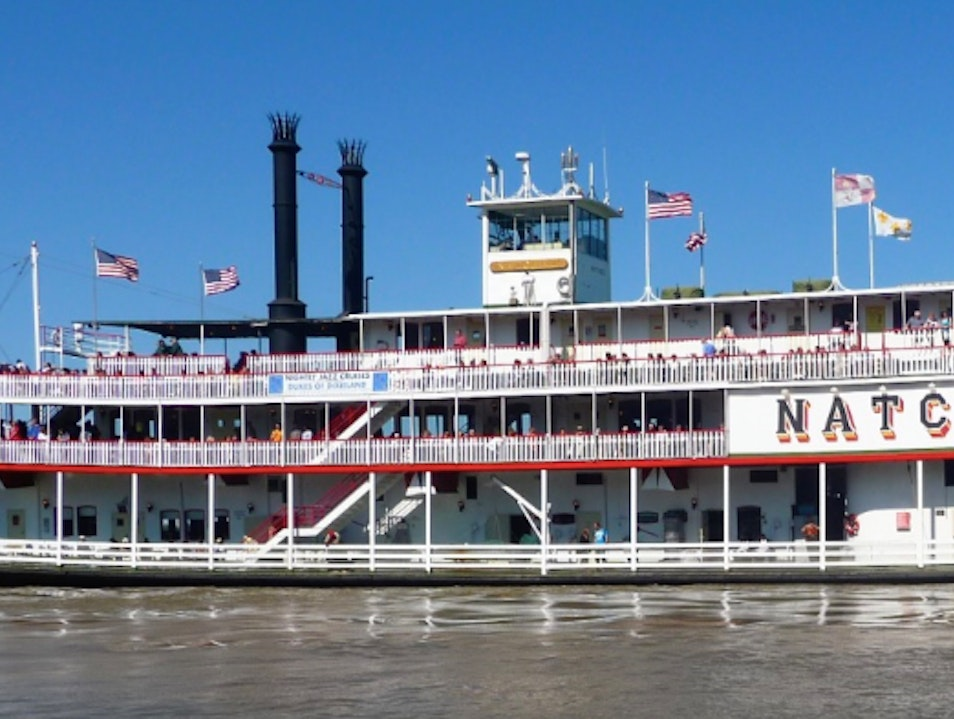 Cruising down the Mississippi River on a steamboat in New Orleans New Orleans Louisiana United States