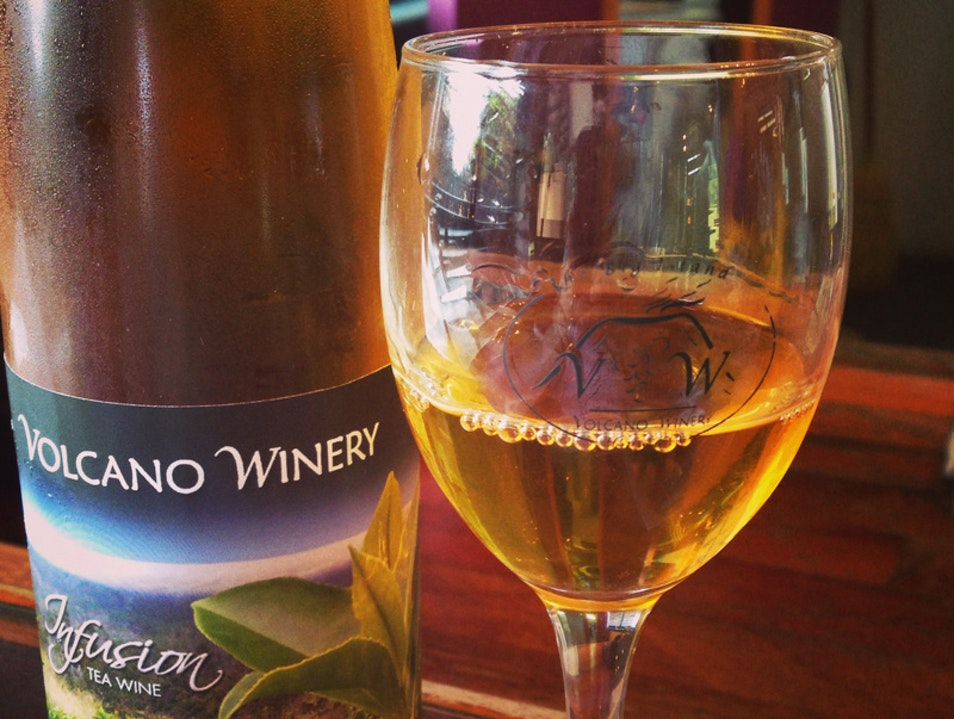 Wine, Wine with Tropical Fruit, Wine with Tea - You can have it all at Volcano Winery!