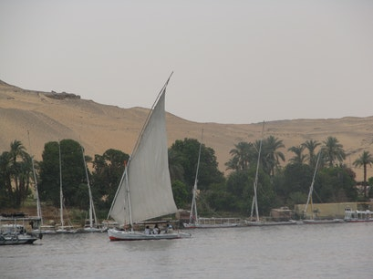Felucca on the Nile Luxor  Egypt