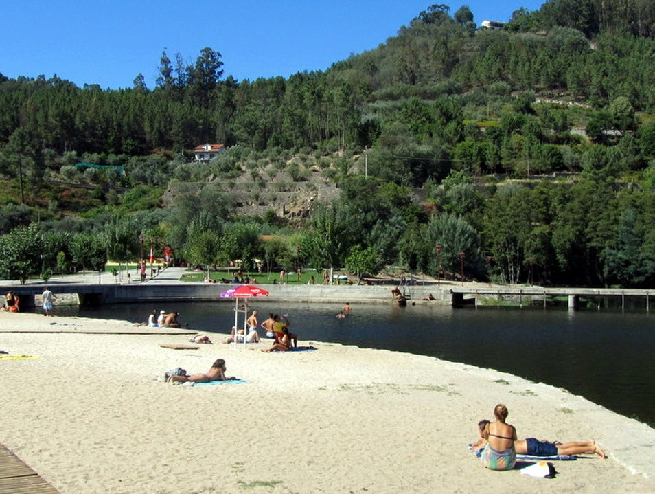 Fantastic river beach in central Portugal Avô  Portugal