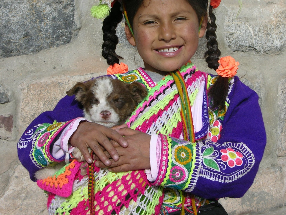 Precious Isabel and her  Puppy Puerto Inca  Peru