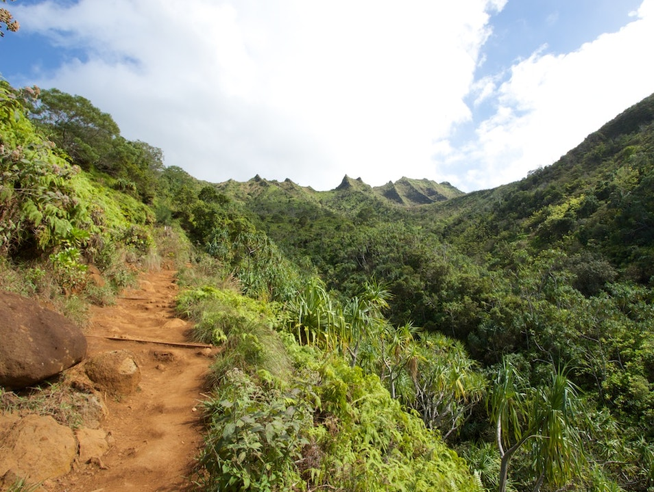 Hiking the Kalalau Trail to Hanakapi'ai Beach Waimea Hawaii United States