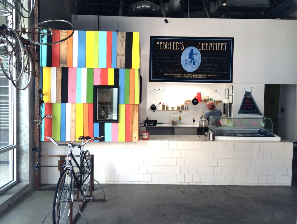 Bike-Churned Ice Cream at Peddler's Creamery Los Angeles California United States