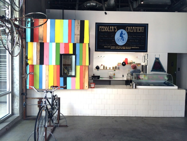 Bike-Churned Ice Cream at Peddler's Creamery