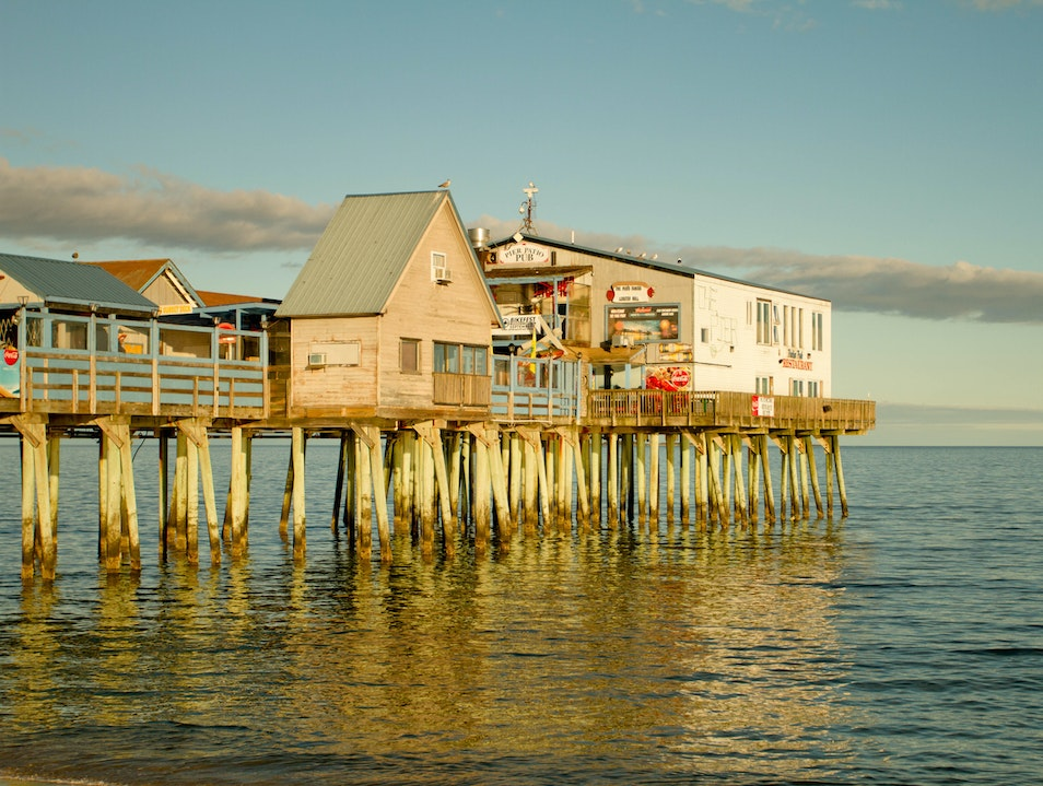 Maine's Own Pier  Old Orchard Beach Maine United States