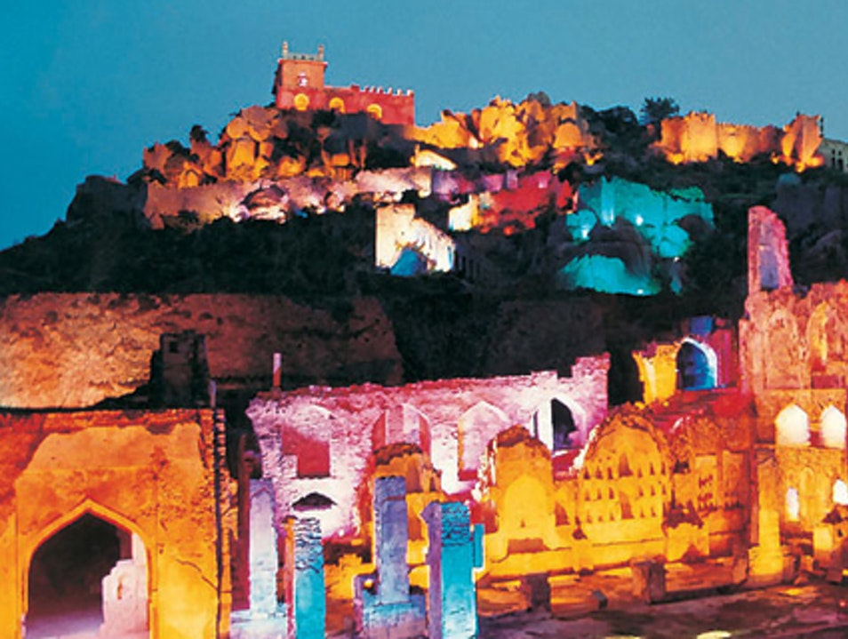 Light and Sound Show at Golcanda Fort Hyderabad  India