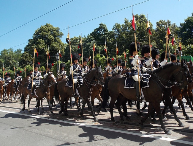 I love a parade - Belgian style!