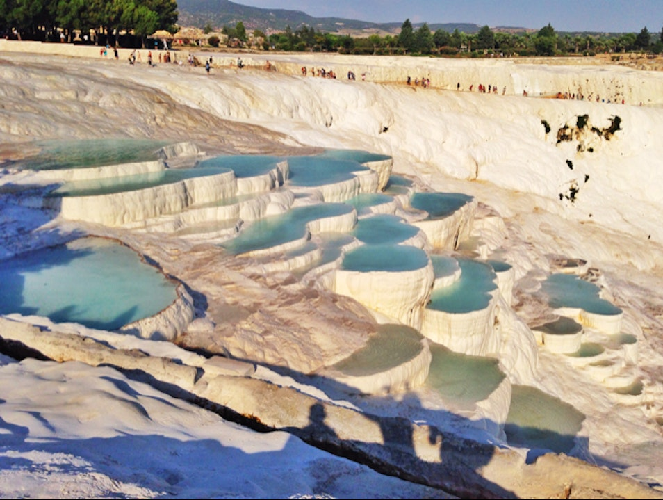 Swim in an Ancient Mountain of Baking Soda Denizli Merkez  Turkey