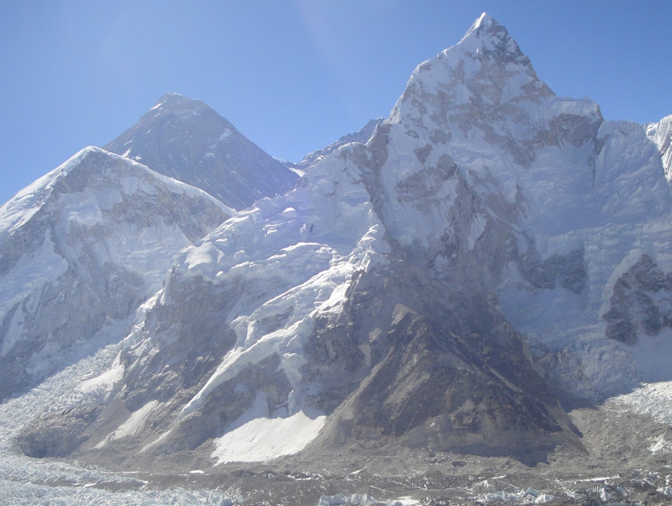 Trekking to the base camp of top of the world, the Everest