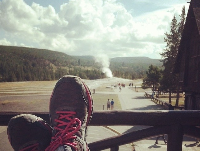Morning Coffee at Old Faithful