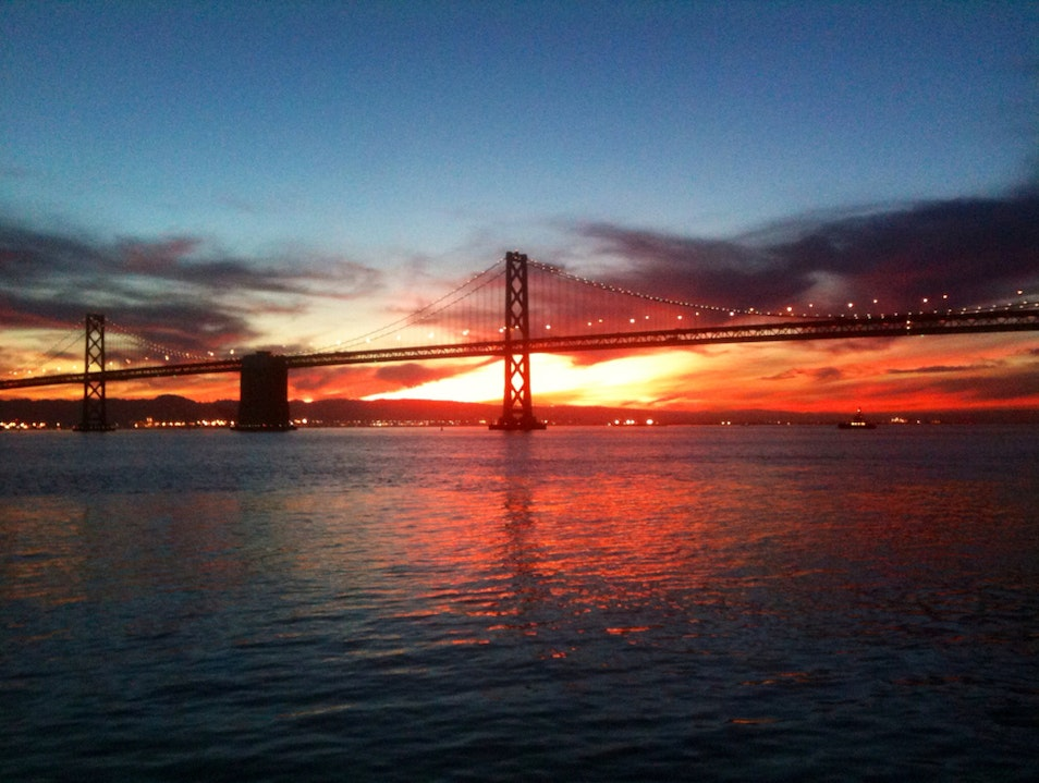 Soaking In The Sunrise On The Bay  San Francisco California United States