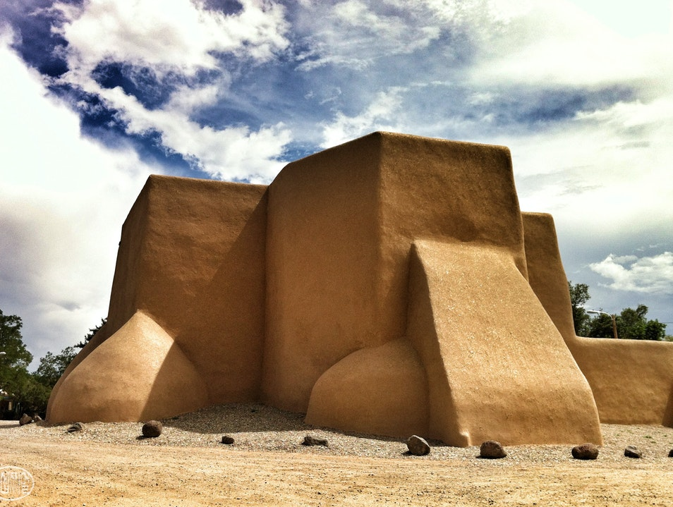 Rear of the Adobe Icon Ranchos de Taos New Mexico United States
