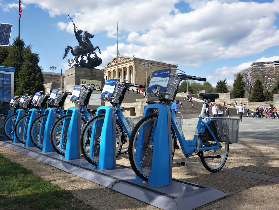 Welcome to the city of bicycle love Philadelphia Pennsylvania United States