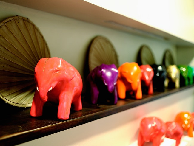 A lacquered elephant by Theam