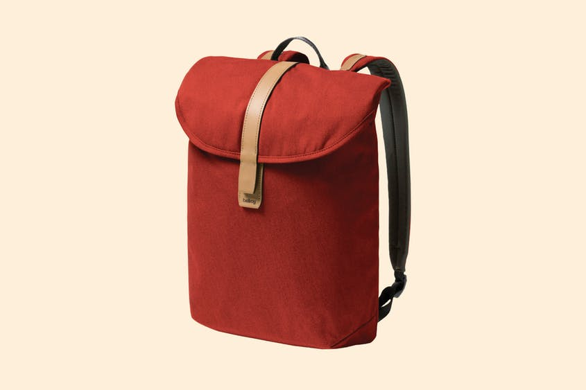 This streamlined backpack turns simplicity into a style statement.